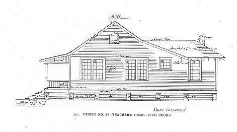 Tuskegee Plan: Five Room Teacher Home