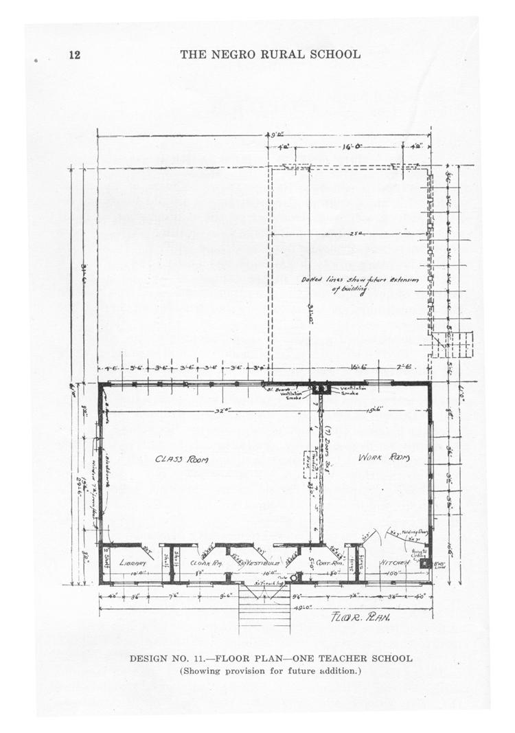 Tuskegee Plan, One Teacher Rosenwald School