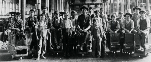 Sweeper and doffer boys, Lancaster Cotton Mills, Lancaster SC, December, 1908