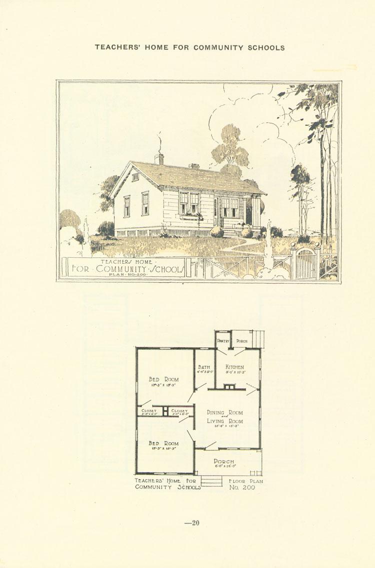 Nashville Plan: 2 Bdrm Teacher House