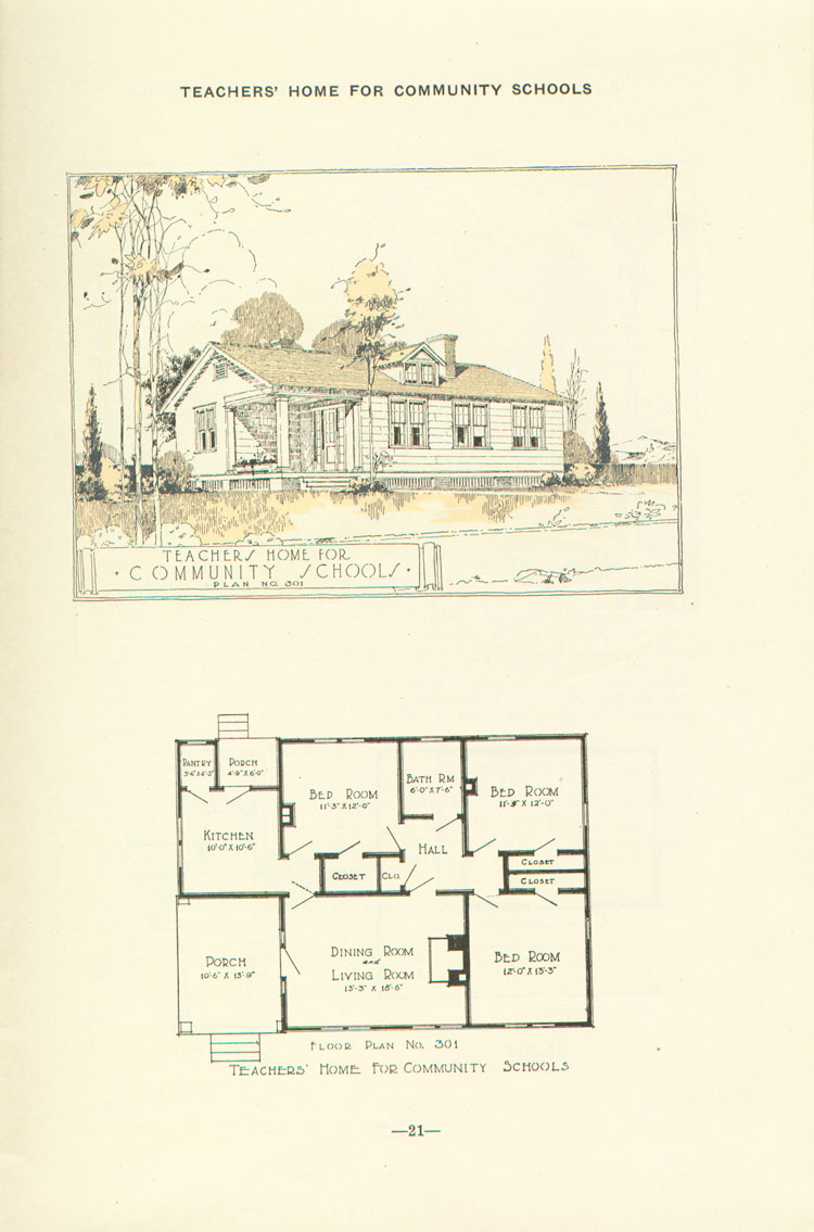Nashville Plan: 3 Bdrm Teacher House