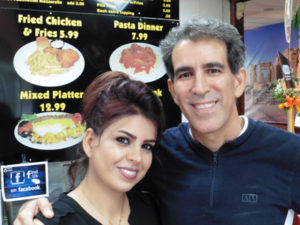Reza and Ameneh Bassami offer traditional Iranian kabobs along with pizza and Greek specialties.
