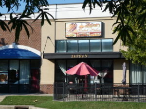 Zafran Kabab Palace is off NC 49 on Harrisburg's Main Street, a newly developed area near the community's Town Hall.