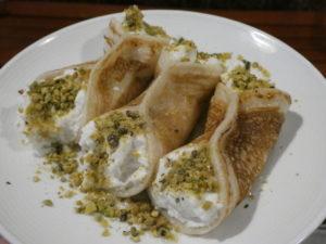 Katayef - holiday dessert at Pita Kabab in Matthews - History South