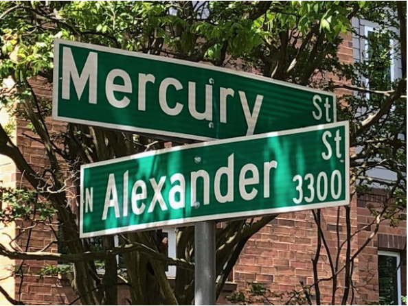 This one-block avenue takes you to what was originally known as the Mecklenburg Mill, renamed the Mercury Mill in 1926.