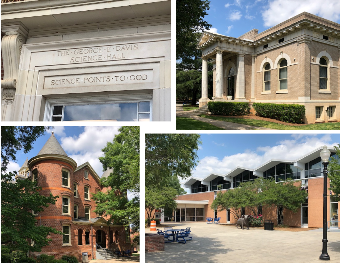 DAVIS SCIENCE HALL, CARNEGIE LIBRARY, CARTER HALL, STUDENT UNION – JCSU campus