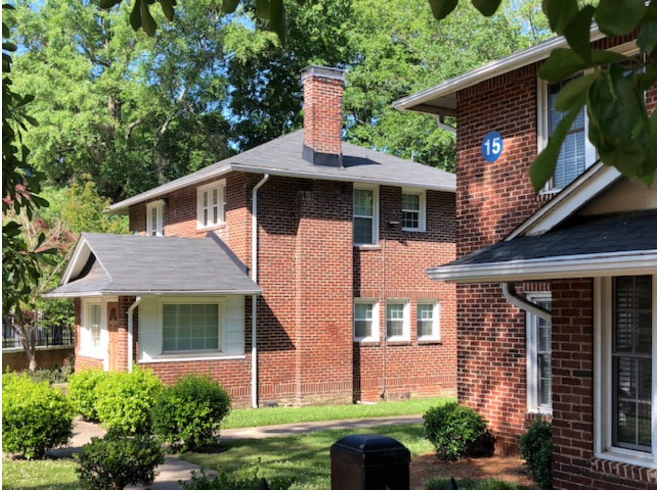 Small liberal arts colleges, especially African American ones, often had scant cash to pay the salaries of teachers back in the day. So sometimes they provided housing. These two sturdy brick dwellings for JCSU instructors date from the 1920s.