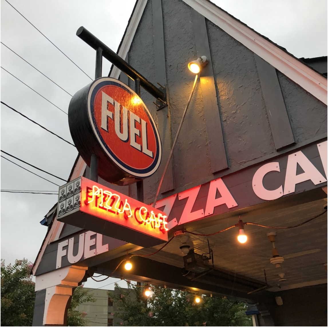 We're back where we started – if Fuel Pizza is open, treat yourself to a cold drink and a hot slice.