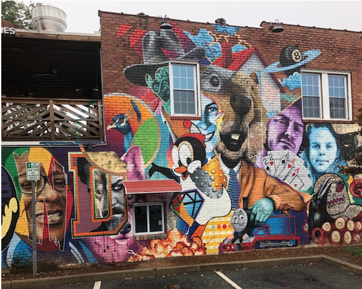THE PLAZA MIDWOOD MURAL