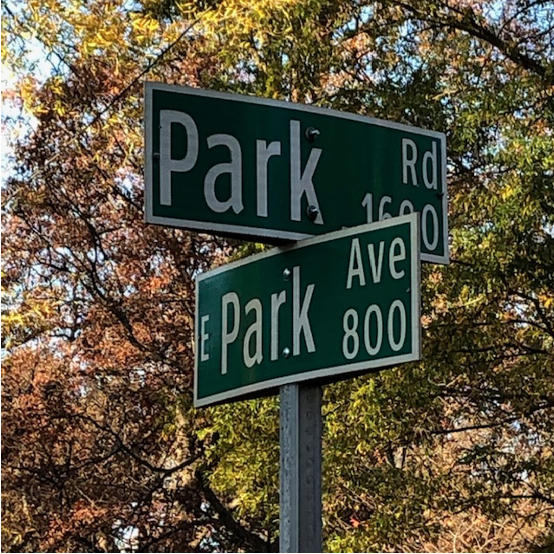 If you've ever driven on big Park Road through southeast Charlotte, you'll be tickled to be here at its beginning – where it gets its name from Latta Park. The parkside street, Park Avenue, was part of the Olmsteds' 1911 Dilworth plan, but not built until 1939 (along with Romany Road on the other side of Latta Park). Below is a June 4, 1939, Charlotte Observer ad. I think the lower left photo was snapped where Park Avenue meets Dilworth Road. Do you agree?