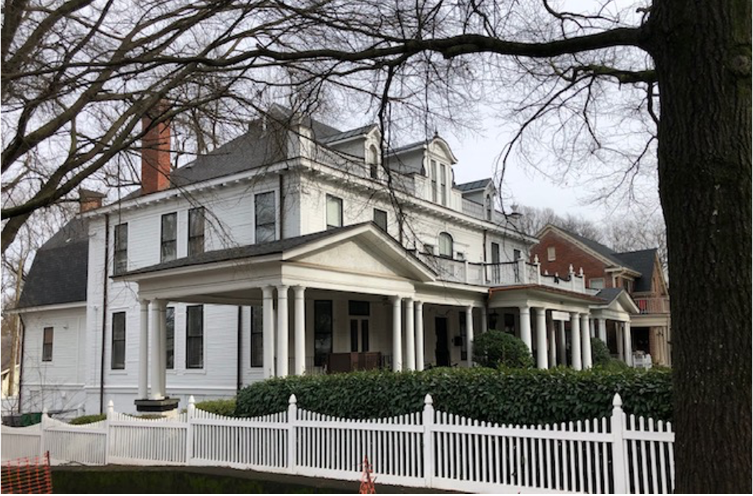You guessed it – another Colonial design by CC Hook. Love that covered portico at left for your horse and carriage. J.L. Villalonga, a building materials dealer, had it constructed for his family in 1901. R.O. Alexander, the next owner, was a cotton broker – an essential part of the economy that linked cotton farmers with textile mills.
