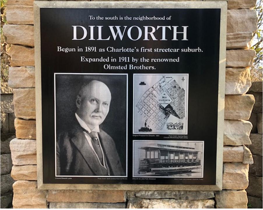 Edward Dilworth Latta plaque on McDowell Street